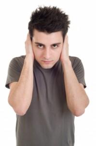 Man not listening