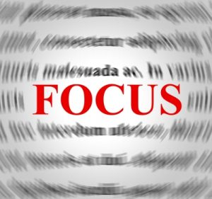illustration of word focus