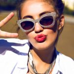 cool woman with sunglasses