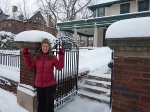 picture of Lauren in the snow