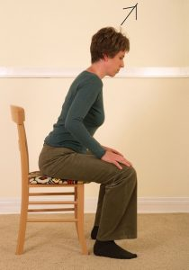 woman standing up with ease