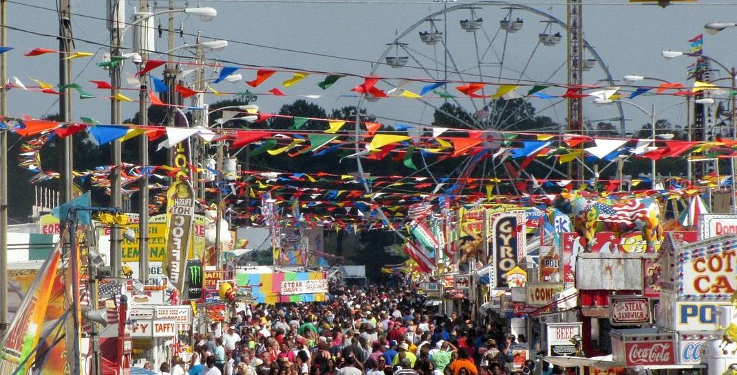 crowded summer festival